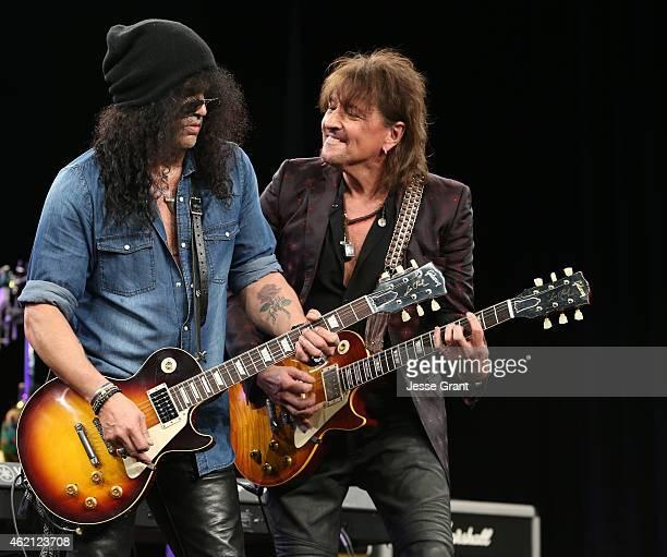 Guitarists Slash and Richie Sambora attend the NAMM Tec Awards at the Anaheim Hilton on on January 24 2015 in Anaheim California