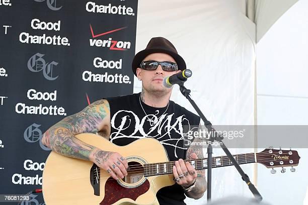 Guitarist/Singer Benji Madden of Good Charlotte performs live at the Verizon Wireless Communications Store, Woodbridge New Jersey.