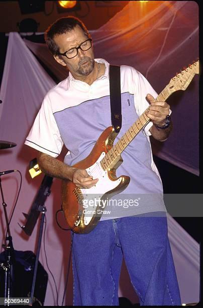 Guitarist/singer Eric Clapton performing on stage