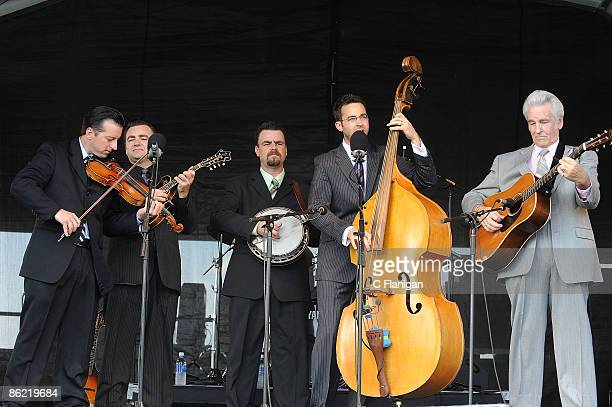 Guitarist/Vocalist Del MCoury and The Del McCoury Band perform during day 2 of the 2009 New Orleans Jazz Heritage Festival Presented by Shell at the...