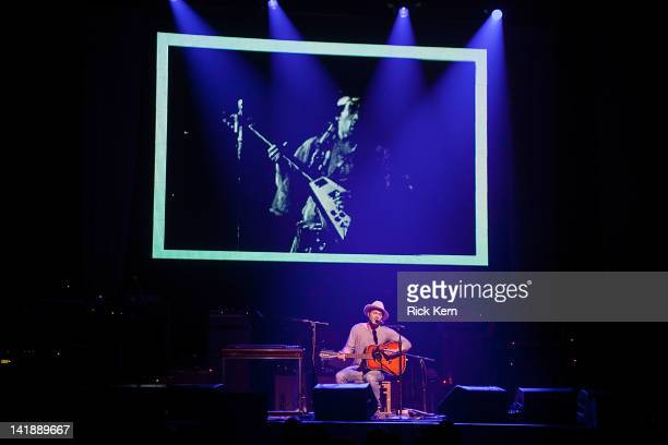 Guitarist/vocalist Doyle Bramhall II performs as part of the Experience Hendrix Tribute at ACL Live on March 24 2012 in Austin Texas