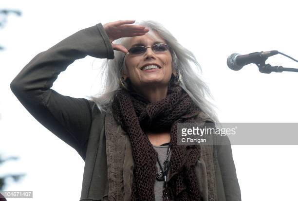 Guitarist/Vocalist Emmylou Harris performs during the 2010 Hardly Strictly Bluegrass Music Festival at Golden Gate Park on October 1 2010 in San...