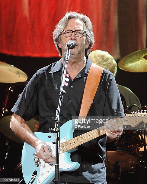 Guitarist/Vocalist Eric Clapton performs live at HP Pavilion on March 2, 2011 in San Jose, California.