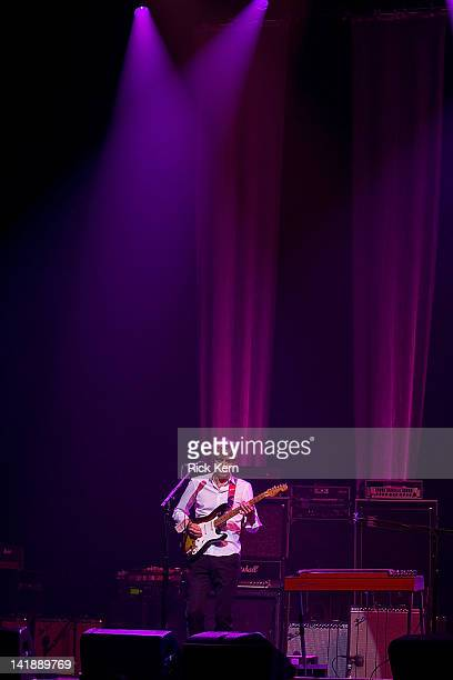 Guitarist/vocalist Eric Johnson performs as part of the Experience Hendrix Tribute at ACL Live on March 24 2012 in Austin Texas