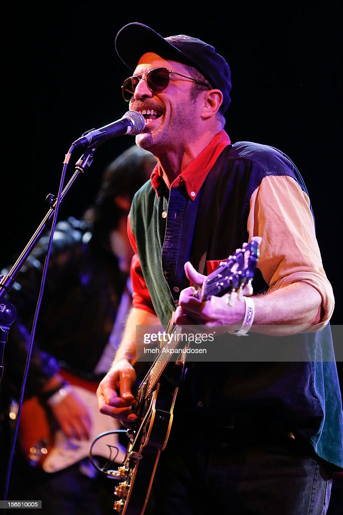 Guitarist/vocalist Matt Sweeney performs onstage singing 'Listen to Her Heart' at the first ever Jameson Petty Fest West at El Rey Theatre on November 15, 2012 in Los Angeles, California.