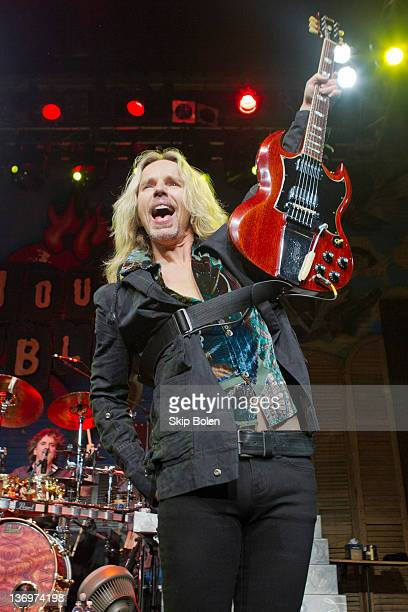 Guitarist/vocalist Tommy Shaw of Styx performs at the House of Blues on January 13 2012 in New Orleans Louisiana