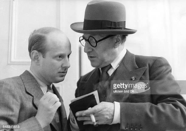 Guitry Sacha *21021885Schauspieler Regisseur Autor Frankreich bei einem DeutschlandBesuch mit dem BZRedakteur Dr Albert Stenzel März 1938