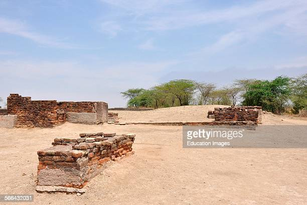 Gujarat Lothal Ruins Of Ancient City Lothal Indus Valley Civilization