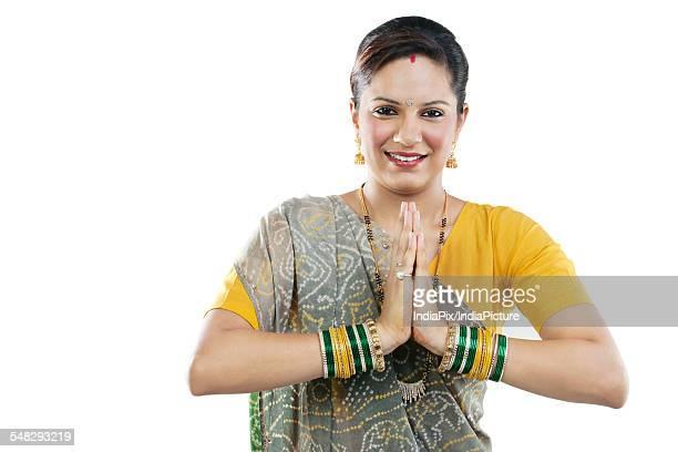 Gujarati woman greeting