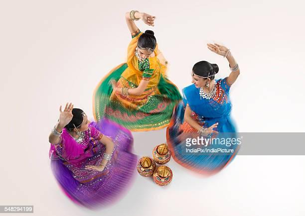 Gujarati women dancing