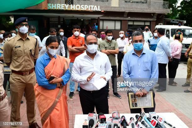 Gujarat's Principal Secretary Principal Secretary for Health Jayanti Ravi , Additional Chief Secretary Rajivkumar Gupta and Municipal Commisioner of...