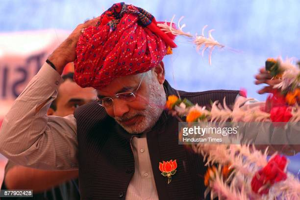 Gujrat Chief Minister Narender Modi during an election rally at Ahwa in district Dangs in South Gujarat 400Kms from Ahmedabad on December 2 2007