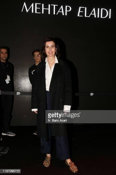 Gul Agis attends the MercedesBenz Fashion Week Istanbul March 2019 at Zorlu Center on March 20 2019 in Istanbul Turkey
