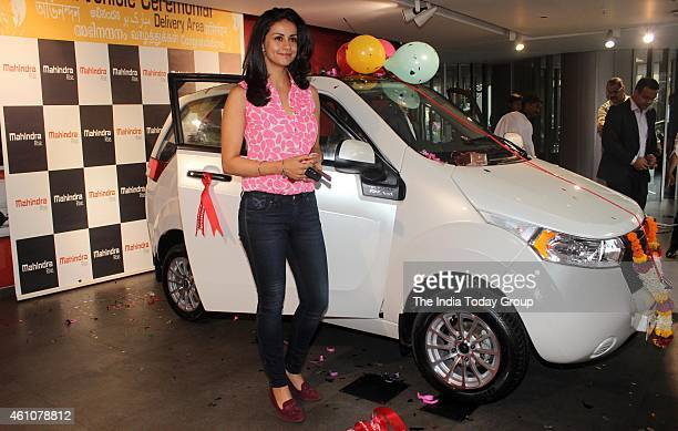 MUMBAI INDIA Gul Panag's husband Rishi Attari gifts her an electric car