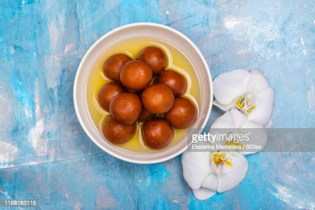 gulab jamun - indian sweet dish - mithai stock pictures, royalty-free photos & images