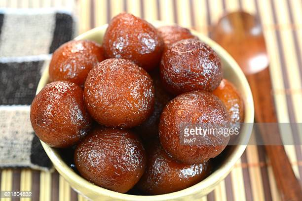 gulab jamun - north indian food stock photos and pictures