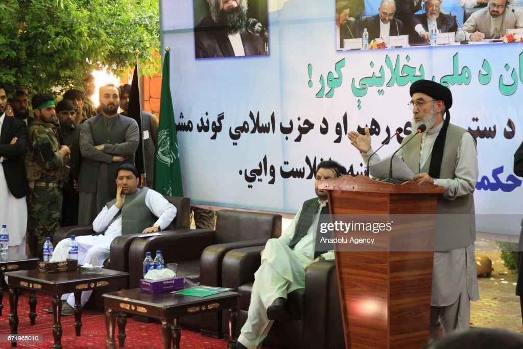 Gulbuddin Hekmatyar attends meeting in Afghanistan : News Photo