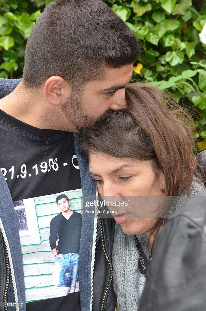 Gulcin Dede , mother of Turkish boy Diren Dede killed in the
