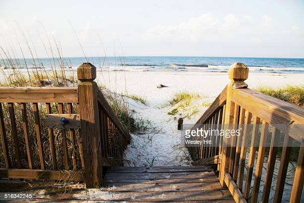 Gulf coast white sandy beaches