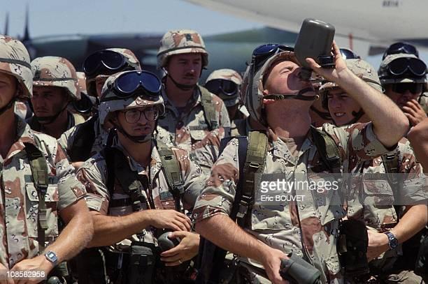 Gulf Crisis US ARMY in Dhahran Saudi Arabia on August 21st 1990