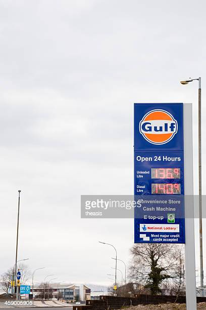 gulf fuel, glasgow - theasis stock pictures, royalty-free photos & images