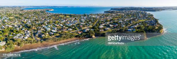 gulf harbour aerial view - north island new zealand stock pictures, royalty-free photos & images