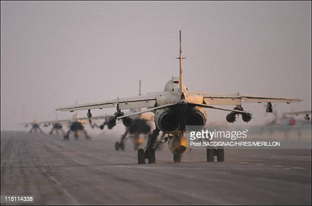 Gulf JPChevenement Jaguar of Frech air in Al Ahsa Saudi Arabia on January 19 1991