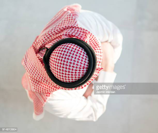 Gulf man directly above view