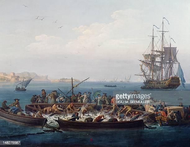 Gulf of Bandol or Fishing for tuna by ClaudeJoseph Vernet Paris Musée De La Marine