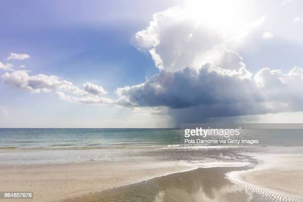 gulf of mexico beach. stormy sky at marco island beach in southern florida, usa - marco island stock pictures, royalty-free photos & images