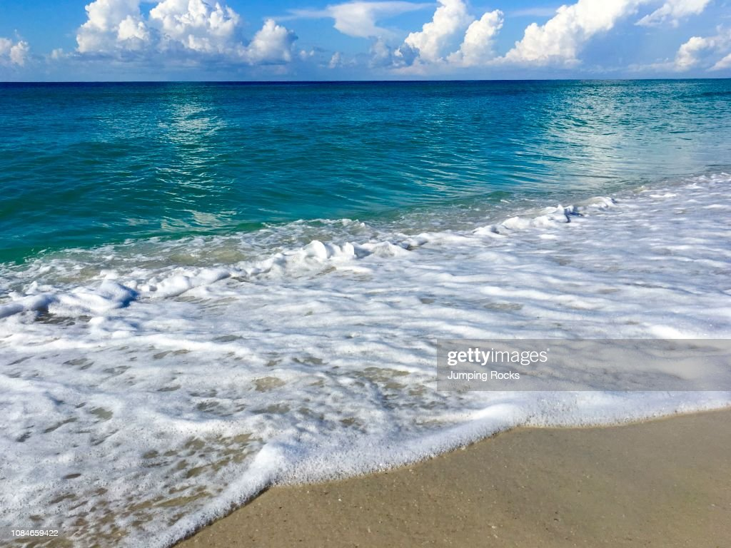 Gulf of Mexico Beach with White Sand and breaking surf, Gulf