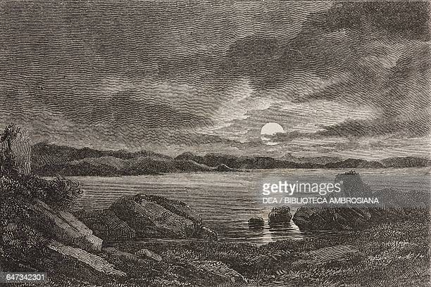 Gulf of Volos Thessaly engraving from Greece Pictorial Descriptive and Historical by Christopher Wordsworth