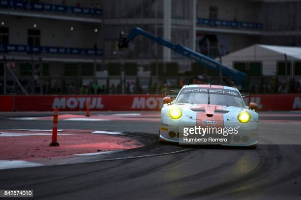 Gulf Racing during the 6 Hours of Mexico Practice as part of FIA World Endurance Championship at Hermanos Rodriguez Race Track on September 03 2017...