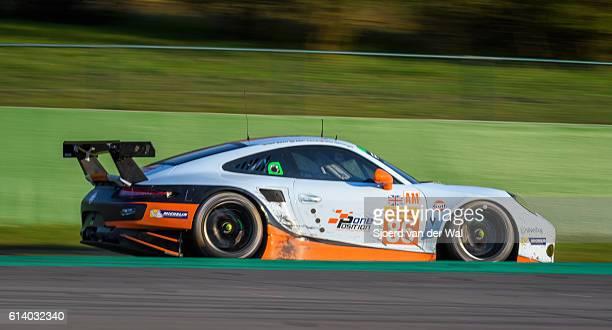 gulf racing porsche 911 race car - porsche carrera stock photos and pictures