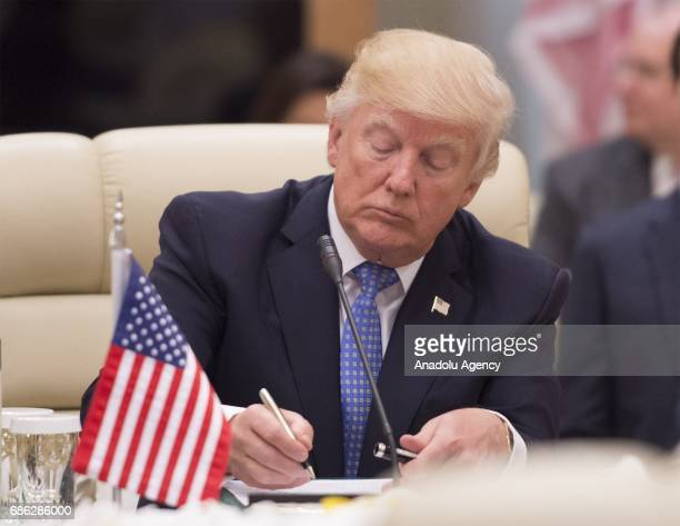 US Gulf Summit opens its session with the attendance of US President Donald Trump and heads of state at King Abdul Aziz International Conference...