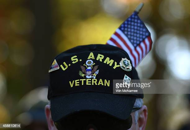 0ff5376fa Gulf War veteran Bill Virill retires US Army attends a Veterans Day  ceremony at the Vietnam
