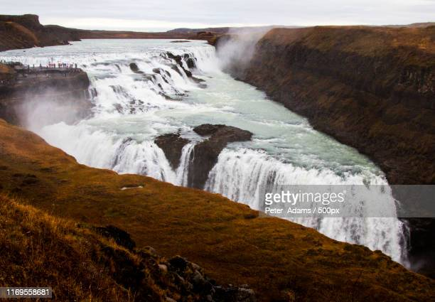 gulfoss iceland - peter adams stock pictures, royalty-free photos & images