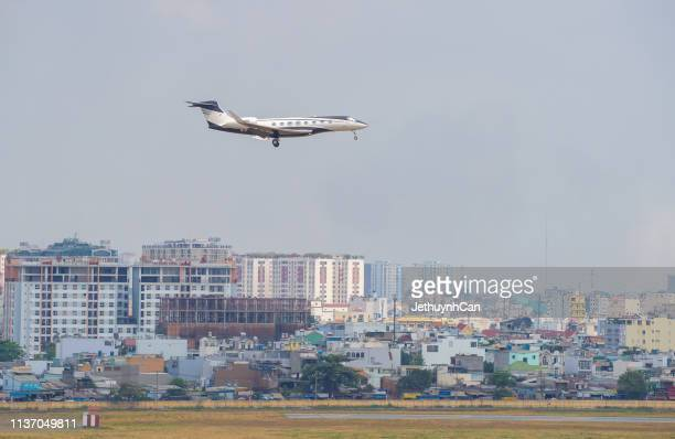 Gulfstream G450 private Jet airplane landing at Tan Son Nhat Airport (SGN) in Saigon
