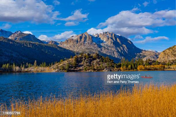 gull lake and carson peak in the californian sierra nevada mountains - carson california stock pictures, royalty-free photos & images
