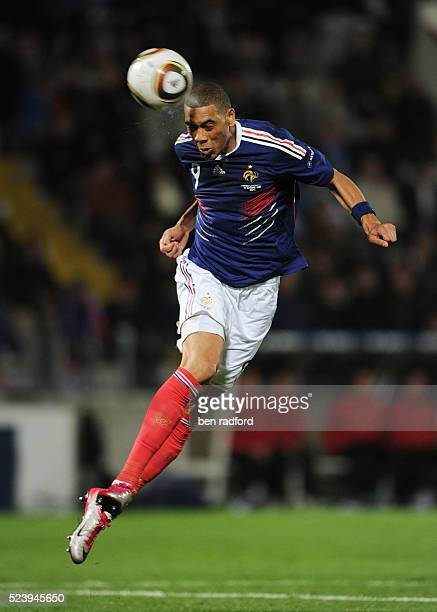 Gullaume Hoarau of France during the Group D UEFA 2012 Qualifying match between France and Luxembourg at the Stade Saint-Symphorien in Metz, France.