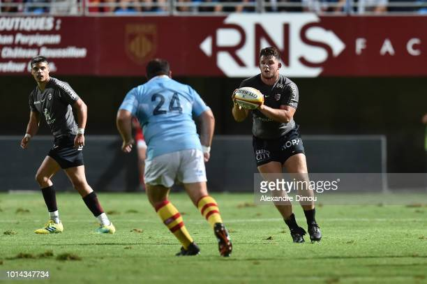 Gullaume Marchand of Toulouse during the Test match between USAP Perpignan and Stade Toulousain on August 9 2018 in Perpignan France