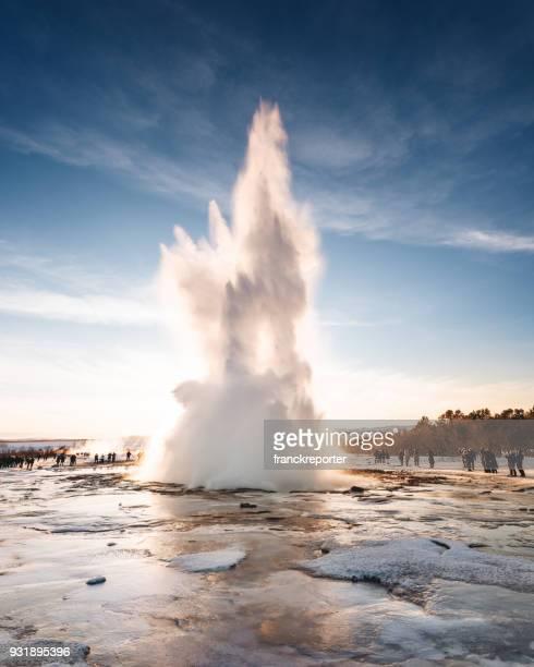gullfoss geysir - volcán fotografías e imágenes de stock