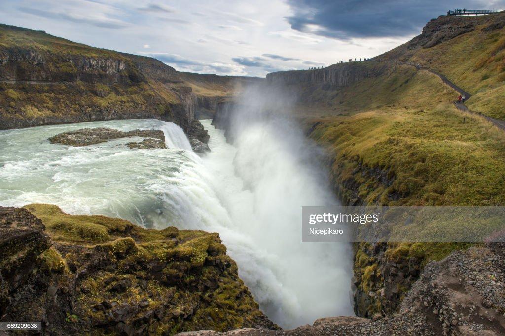 Gullfoss Waterfall in Iceland. : Stock Photo