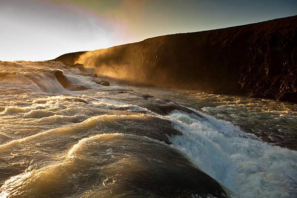 Gullfoss waterfall.
