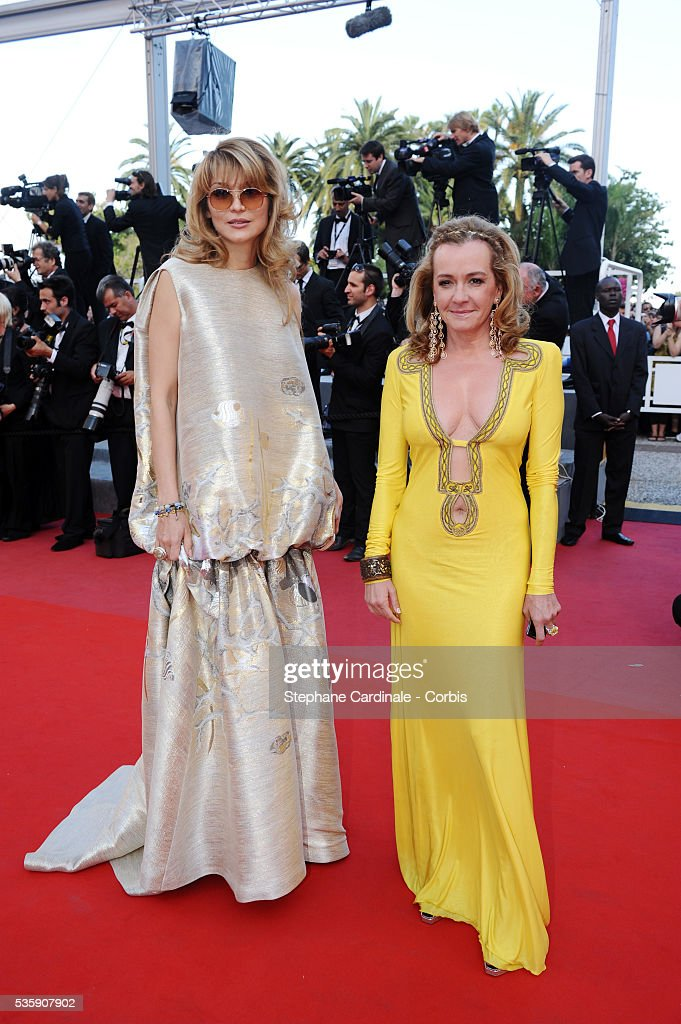 Gulnara Karimova and Caroline Gruosi-Scheufele attend the premiere for 'The Exodus - Burnt By The Sun 2' during the 63rd Cannes International Film Festival.