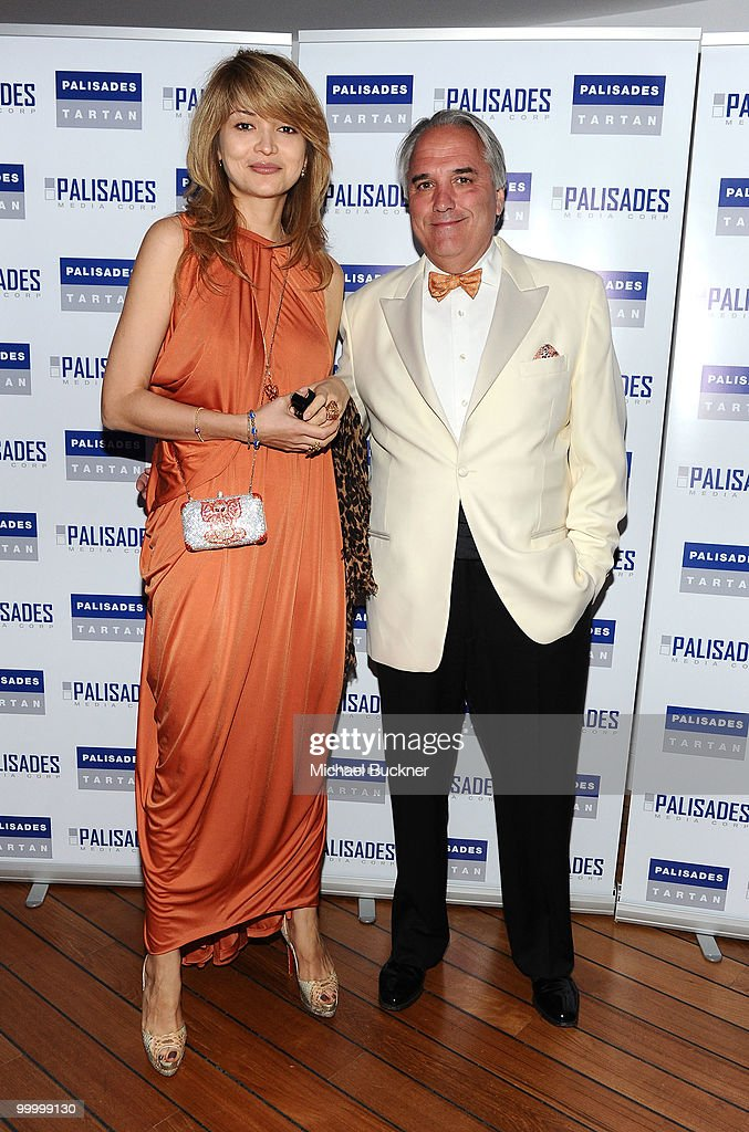 Gulnara Karimova and Chairman of Palisades Pictures Vincent Roberti attends the Palisades Media Corp and Vin Roberti Salute Independent Film Party held at the Hotel du Cap during the 63rd Annual International Cannes Film Festival on May 19, 2010 in Cannes, France.
