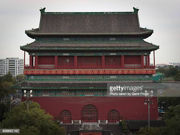 gulou (chinese: 鼓楼; pinyin: gǔlóu), or drum tower of beijing - temple of heaven stock pictures, royalty-free photos & images