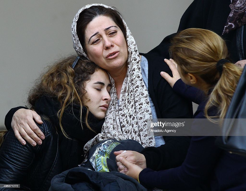 Gulten Manci , mother of Turkish student Ayberk Manci, who