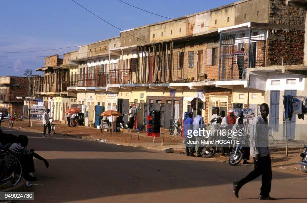 Gulu street late in the afternoon