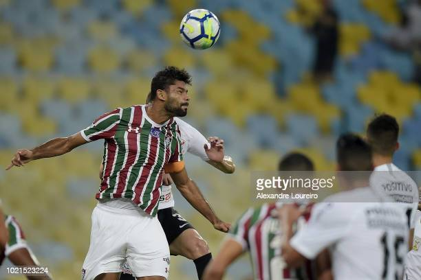 Gum of Fluminense in action during the match between Fluminense and Corinthians as part of Brasileirao Series A 2018 at Maracana Stadium on August 22...